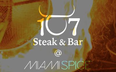 Special Miami Spice Menu at 107!